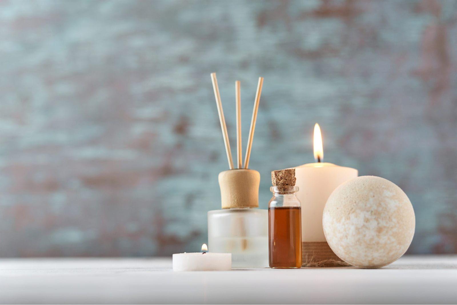 closeup candles medical spa